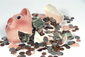 broken piggy bank